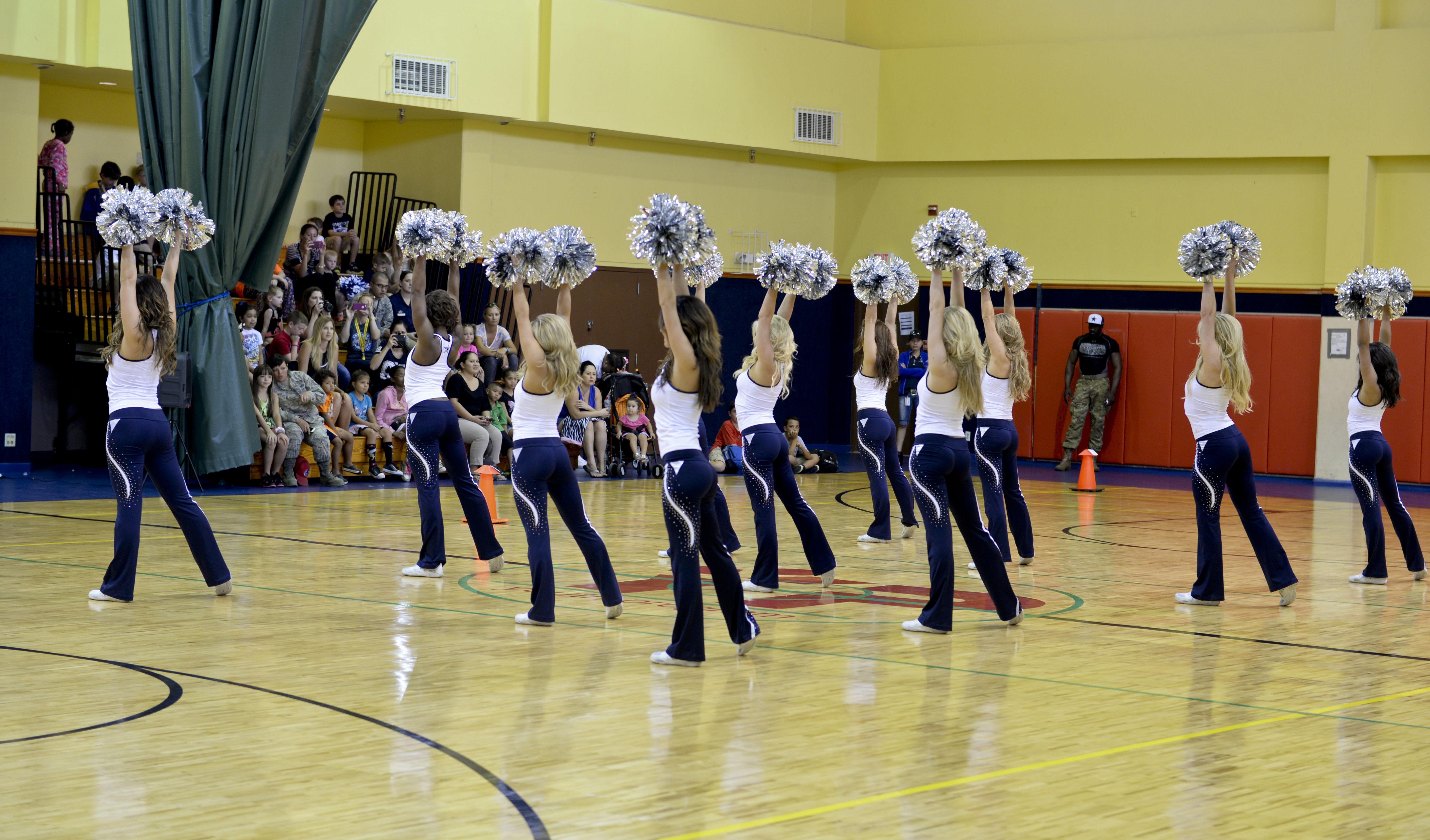 Dallas cowboys cheerleaders visits team andersen andersen air photo details download hi res 2 of 4 the dallas cowboys cheerleaders perform m4hsunfo