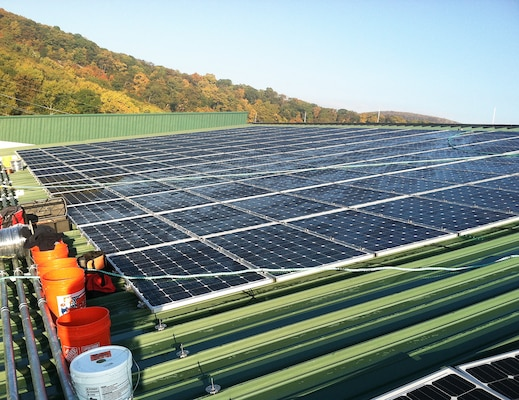 Solar panels on top of the Lichtenberg Tennis Center have become a visible sign of progress toward achieving West Point's Net Zero Energy goals.