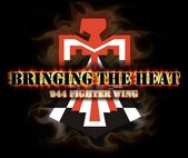 "A logo representing the new 944th Fighter Wing motto, ""bringing the heat,"" at Luke Air Force Base, Ariz. (U.S. Air Force graphic illustration by Staff Sgt. Lausanne Kinder)"