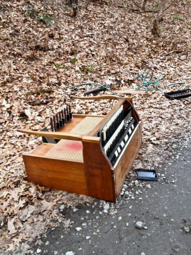 A 'Dump and Run' organ was found along a remote roadway.