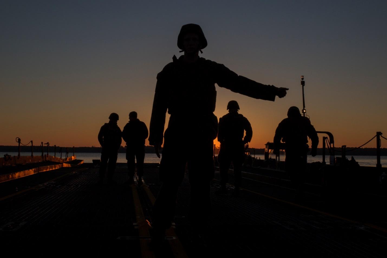 Lance Cpl. Walker Vance, a motor transport Marine with Bridge Company, 8th Engineer