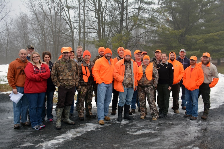 SPRING VALLEY, Wis. – U.S. Army Corps of Engineers, St. Paul District employees, veterans and hunters gathered at the Eau Galle Recreation Area, near Spring Valley, Wis., Dec. 13, for the third annual deer hunt. The Corps partnered with the Wounded Warrior Project and the Wisconsin Department of Natural Resources to host the event. The goal was to connect veterans with other veterans and honor them for their service while also managing the deer herd in the recreation area.