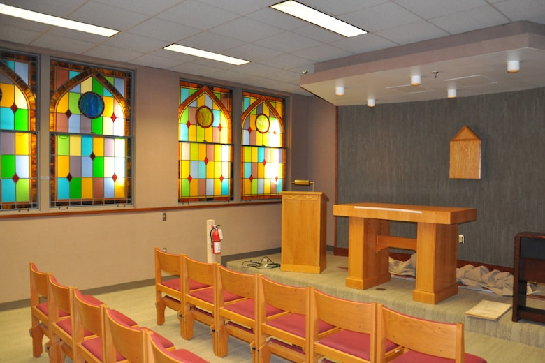 The recently-completed chapel will provide patients and visitors a place for quiet reflection.