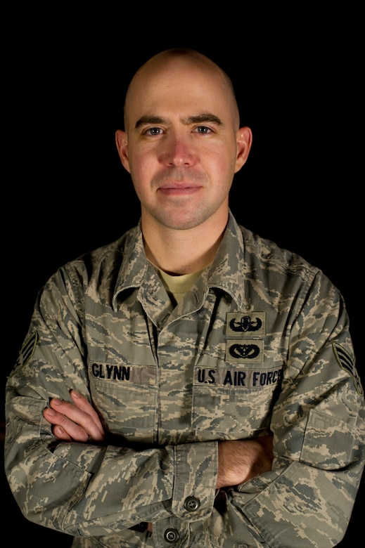 Senior Airman Andrew Glynn, 5th Civil Engineering Squadron explosive ordnance disposal specialist, poses for a photo on Minot Air Force Base, N.D., Dec. 18, 2014. Glynn was among the last of the Air Force EOD to pull out of Afghanistan, but not before making sure that the EOD mission was in good hands. He worked directly with the Afghani National Police EOD in Kandahar, helping them not only with EOD expertise, but with building the infrastructure necessary for the local forces to get the materials they need to complete the mission, like equipment and explosives. (U.S. Air Force photo/Senior Airman Brittany Y. Bateman)
