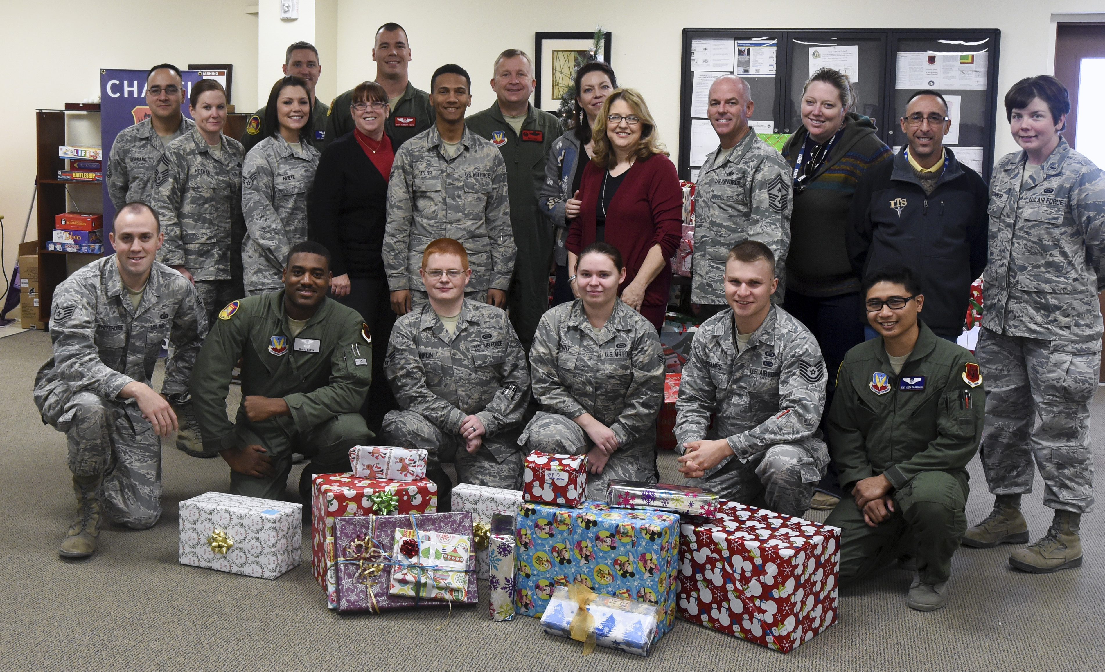 Airmen donate gifts to local school-age children
