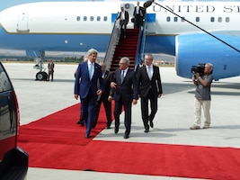U.S. Secretary of State John Kerry visits Ankara. (U.S. Air Force photo by Lt. Col. Emanuel Cohan/Released)