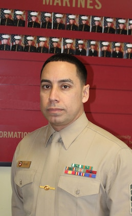 U.S. Marine Corps Master Sgt. Michael Rivas, a Lorain, Ohio native and the recruiter instructor for Recruiting Station Frederick was named 4th Marine Corps District Recruiter Instructor of the year for 2014 for his hard work and forward planning strategies in the recruiting environment. His role at RS Frederick has been instrumental to mission success.