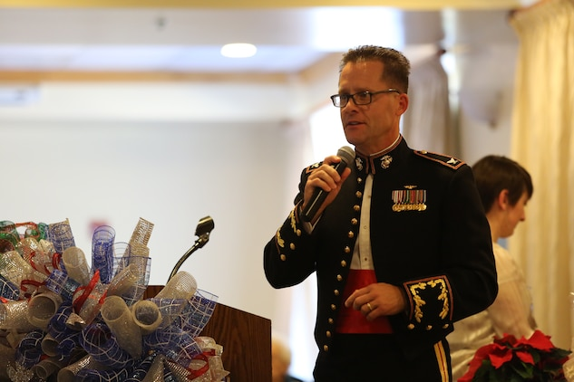 The 45th Annual Senior Tea is held aboard Marine Corps Air Station Beaufort's Officers' Club, Dec 14. The annual event is coordinated through the Air Station's Officers' Spouses' Club and recognizes local citizens who contribute to the Air Station's continued success.