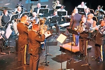 "The 1st Inf. Div. Band, playing alongside the Junction City Community Band, performs ""A Canadian Brass Christmas"" Dec. 14 at the C.L. Hoover Opera House, Junction City."