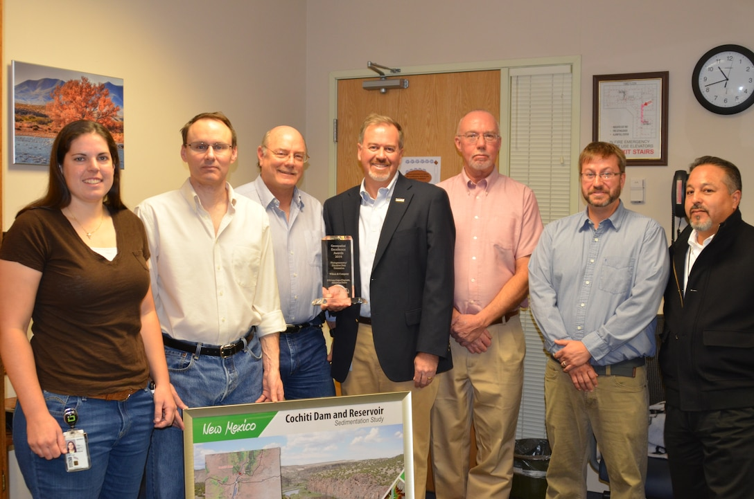 Wilson & Company, Inc. (Engineers & Architects) recently won the Management Association for Private Photogrammetric Surveyors (MAPPS) 2014 Geospatial Products and Services Excellence Award for the Cochiti Dam and Reservoir Sedimentation Study. They shared the award with our Geospatial unit staff.