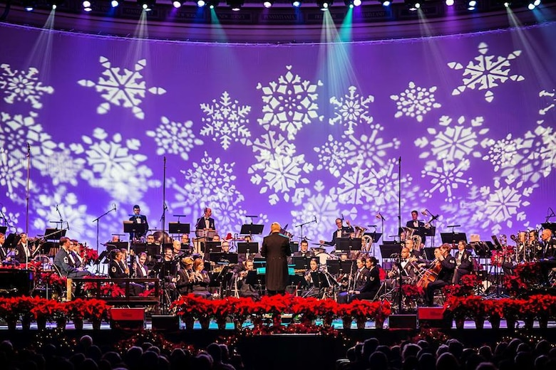 The Concert Band and Singing Sergeants returned to DAR Constitution Hall this year to perform their Spirit of the Season holiday concert. (US Air Force Photo by Senior Master Sgt Kevin Burns/released)