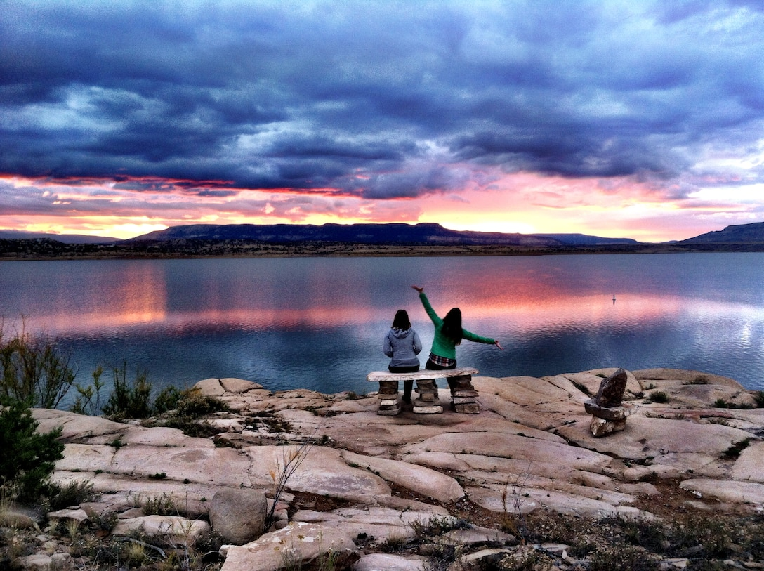 ABIQUIU LAKE, N.M., -- Sunset from the Abiquiu Lake Vista Trail, Oct. 10, 2014.  This photo placed 1st in the District's annual photo drive based on employee voting. Photo by Austin Kuhlman.