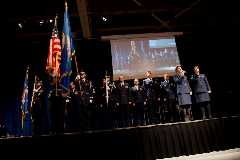 Members of the 133rd partake in a wing-wide awards ceremony to recognize the achievements of 2014.(U.S. Air National Guard Photo By Tech. Sgt. Paul Santikko/Released)