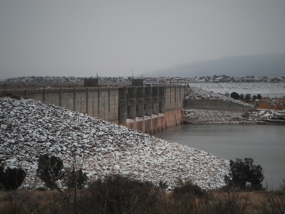 "2014 District Photo Drive entry. Photo by Michael Vollmer, Nov. 13, 2014.  ""Conchas Dam, N.M., during a winter snow."""