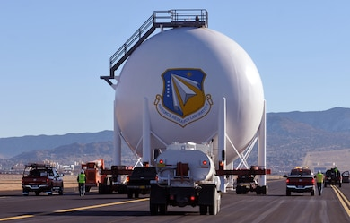 """Consolidation of Area 600 to Building 761 at Kirtland Air Force Base, N.M."" Photo by Erin Larivee, Dec. 17, 2013."