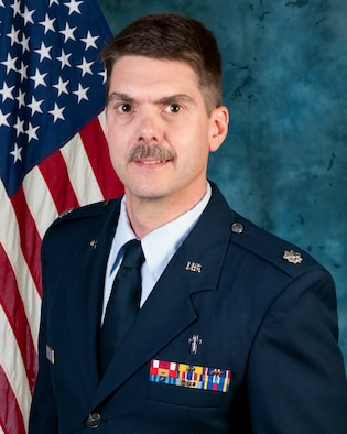 102nd Intelligence Wing Chaplain, Lt.  Col. David Berube