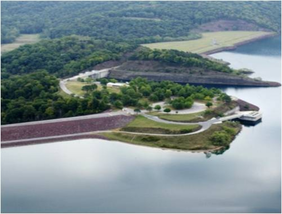 Aerial view of the Public Access Site at the Dam
