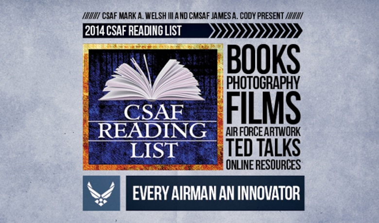 The 2014 CSAF Reading List (U.S. Air Force graphic/Juan Femath)
