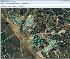 This screen shot of Fort Hunter Ligget, Calif. is used as part of the U.S. Army Corps of Engineers Net Zero Planner system to calculate estimated energy use for each building. The grant will integrate this tool, with the Corps' Comprehensive Army Master Planning Solution Dashboard, to develop a new analytical system to more quickly, effectively and routinely evaluate ways to cut the Pentagon's energy bill at each installation.