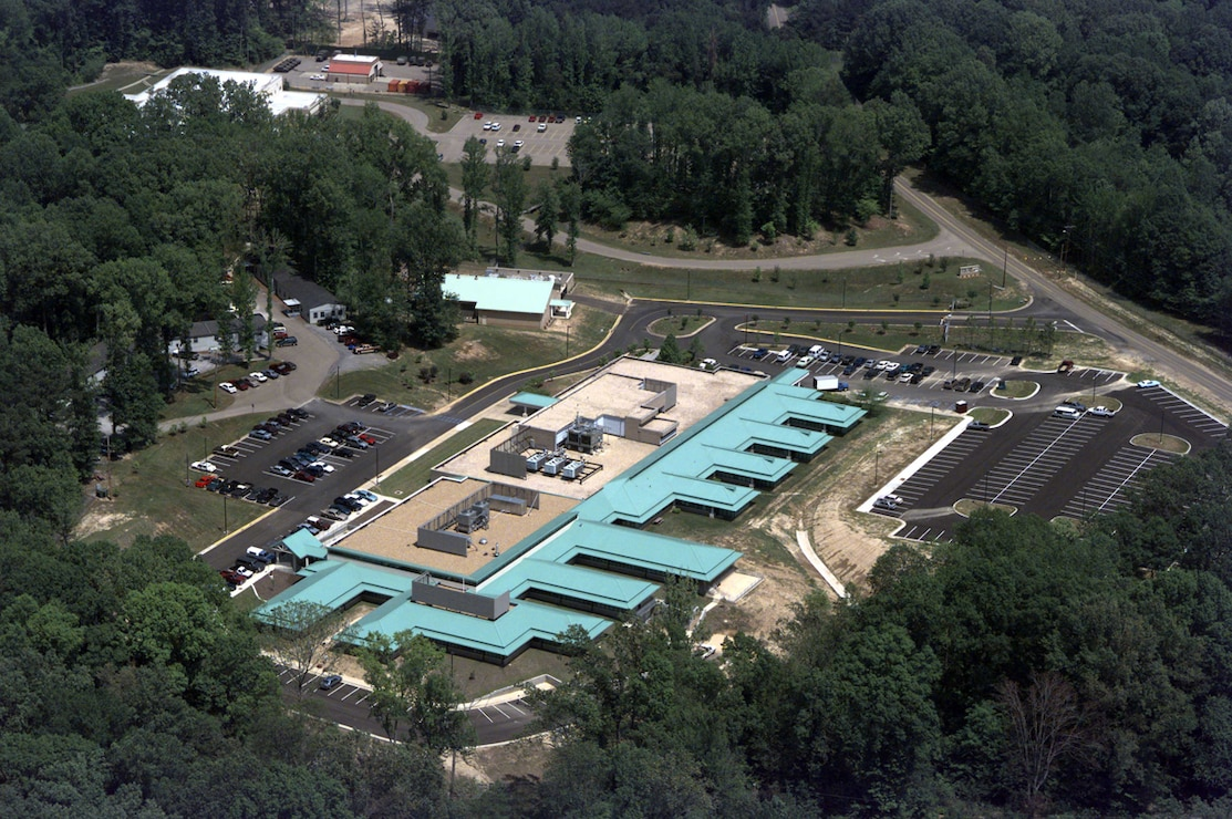 This aerial shot of ITL shows some of the massive chiller equipment required to cool the supercomputers inside the facility.
