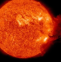 This coronal mass ejection was detected by the National Aeronautics and Space Administration on June 7, 2011.