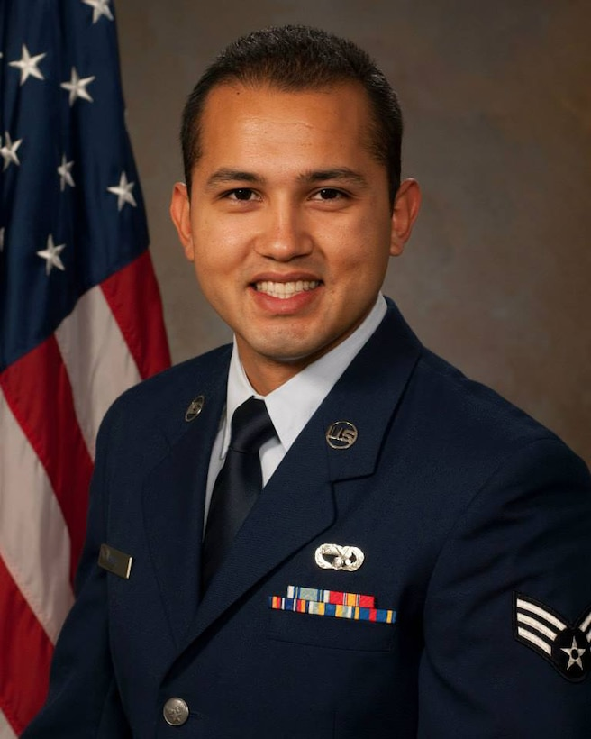 Staff Sgt. Carlos Puga from the 146th Airlift Wing is California's 2013 Outstanding Airman of the Year. (U.S. Air Force photo by: Senior Airman Nicholas Carzis)