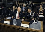 Director of National Intelligence James Clapper and DIA Director Army Lt. Gen. Michael Flynn prepare for their joint testimony Feb. 11 on current and future worldwide threats.