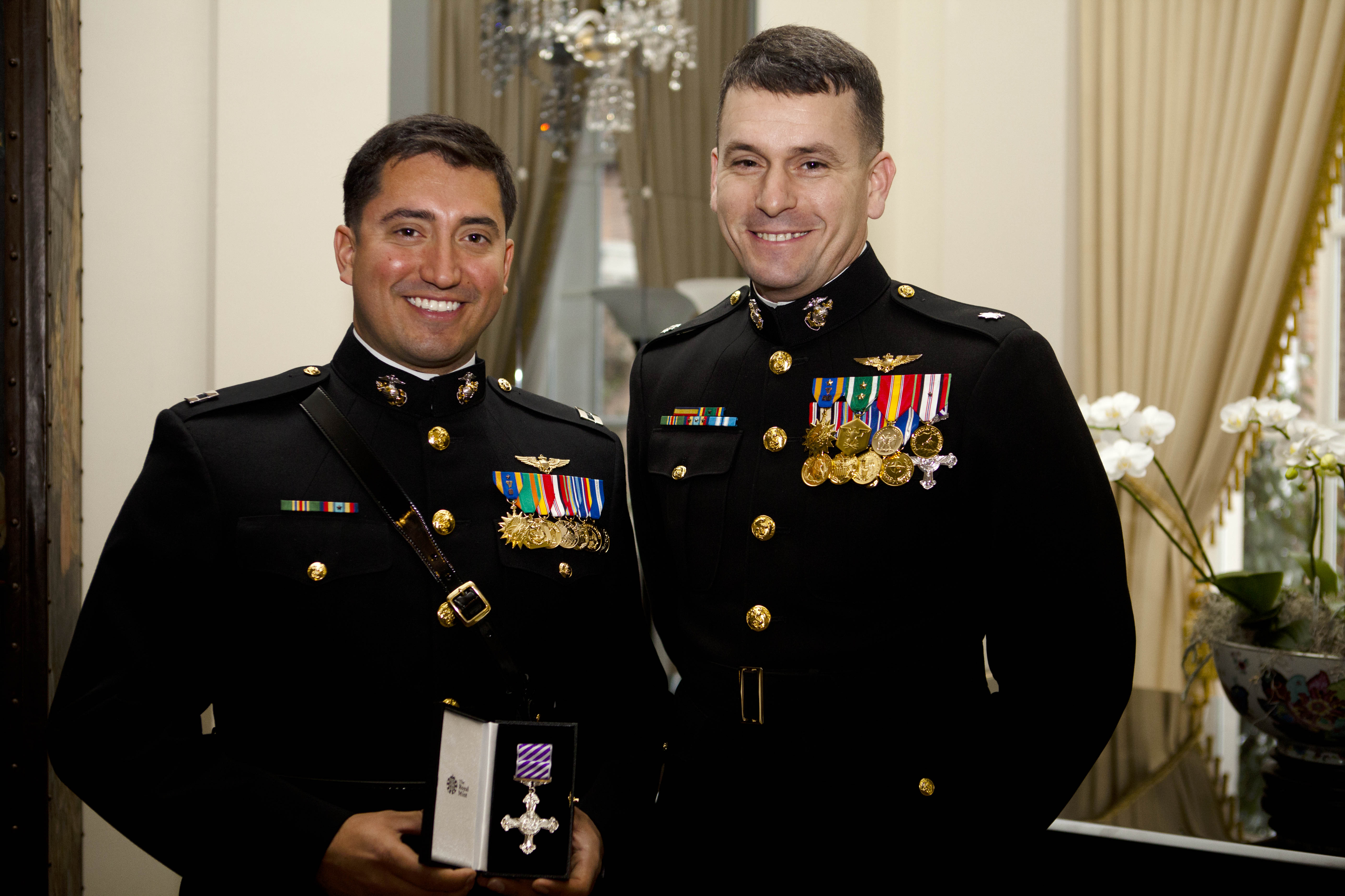 Marine Aviator Receives High Flying British Honor For