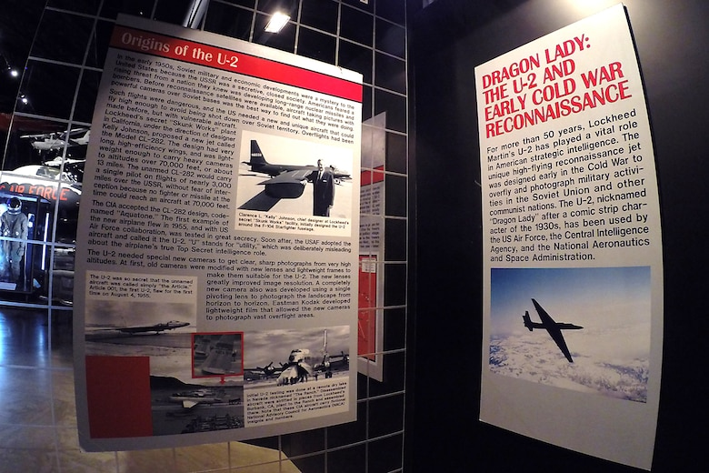"""Dragon Lady: The U-2 and Early Cold War Reconnaissance"" exhibit in the Cold War Gallery at the National Museum of the United States Air Force. (U.S. Air Force photo)"
