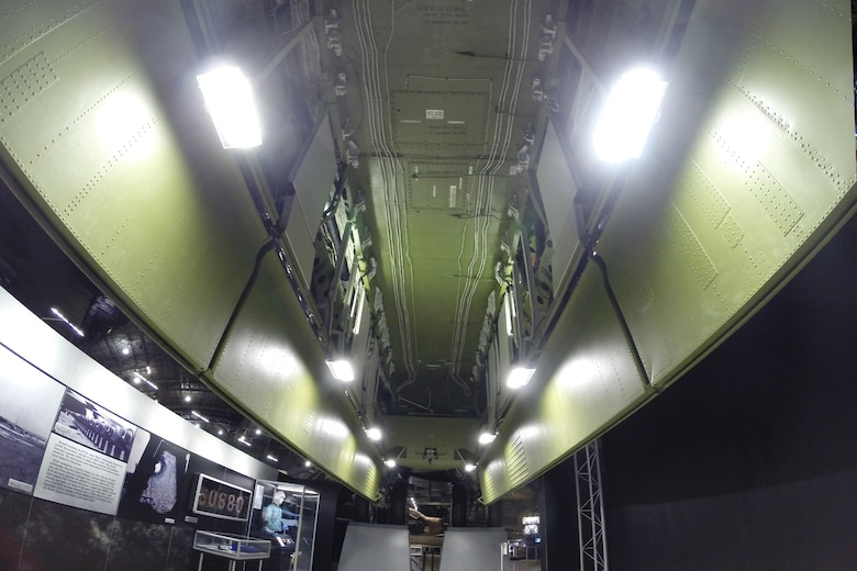 Boeing B-52D Stratofortress payload bay in the Southeast Asia War Gallery at the National Museum of the United States Air Force. (U.S. Air Force photo)