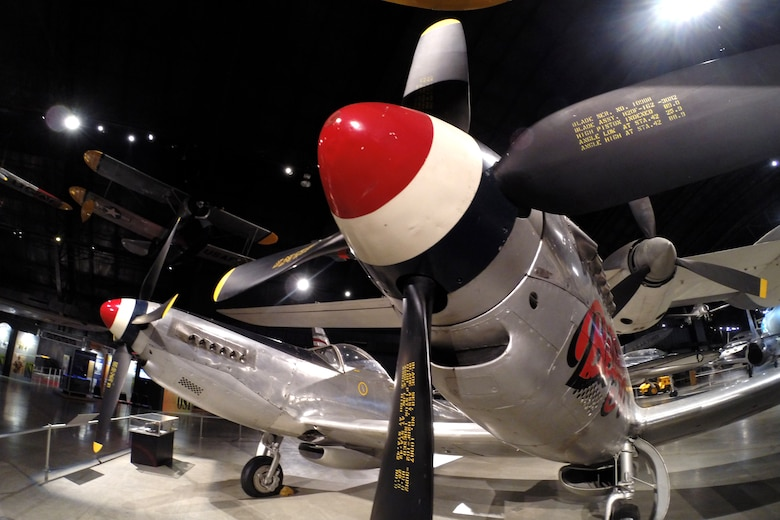 North American F-82B Twin Mustang in the Cold War Gallery at the National Museum of the United States Air Force. (U.S. Air Force photo)