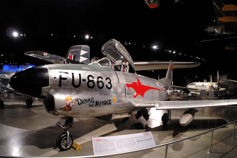 North American F-86D Sabre at the National Museum of the United States Air Force. (U.S. Air Force photo)