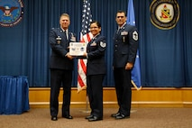 Master Sgt. German Castillo, Inter-American Air Force Acadamy, was promoted to the rank of Master Sergeant. effective Feb. 1, 2014. (U.S. Air Force Photo/Airman 1st Class Krystal M. Jeffers)