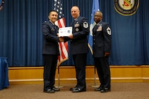 Mater Sgt. Bryan L. Potts, 737th Training Support Squadron, was promoted to the rank of Master Sergeant, effective Feb. 1, 2014.(U.S. Air Force Photo/Airman 1st Class Krystal M. Jeffers)