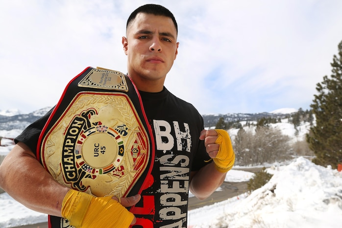 "Sgt. Daniel Ramirez stands at 5' 10"" and weights in at 190 pounds, cutting down to 170 for his fights. He proudly wears a battle scar above his right eye from a front kick in his fourth fight and when he steps onto the mat, he is a force to be reckoned with."