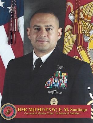 Master Chief Edgar M Santiago Gt 1st Marine Logistics