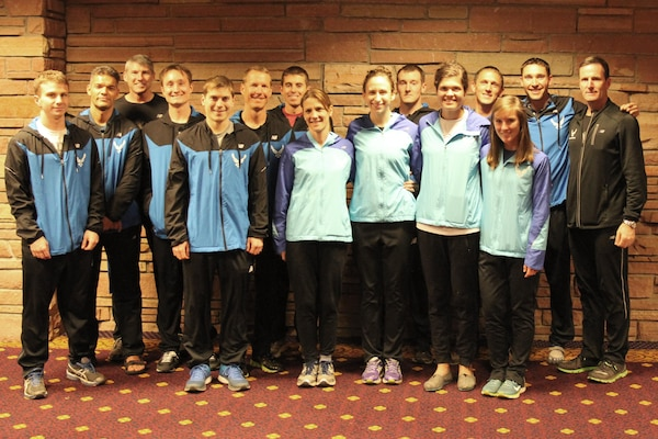 Air Force Men and Women both take team silver medals in the 2014 Armed Forces Cross Country Championship held in conjunction with the USA Track and Field Cross Country National Championship on 15 February in Boulder, Colo.