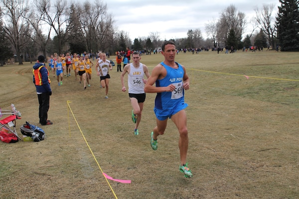 Air Force Capt. Benjamin Payne (Hurlburt Field, FL) captures bronze at the 2014 Armed Forces Cross Country Championship held in conjunction with the USA Track and Field Cross Country Championship in Boulder, CO on 15 February