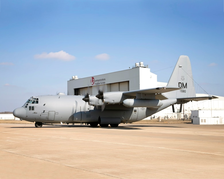 The 55th Electronic Combat Group received their first modified EC-130H COMPASS CALL Baseline-2 at Davis-Monthan Air Force Base, Ariz., Feb. 20, 2014.  The modifications to the EC-130H's mission system enhance its precision and attack capacity, ensuring the 55 ECG is equipped and ready to meet future challenges.  (Courtesy Photo)