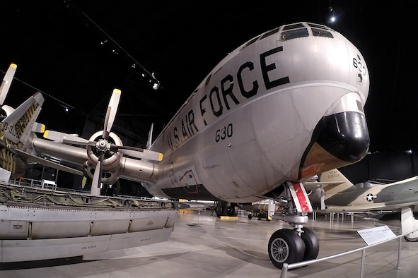 Boeing KC-97L Stratofreighter in the Cold War Gallery at the National Museum of the U.S. Air Force. (U.S. Air Force photo)