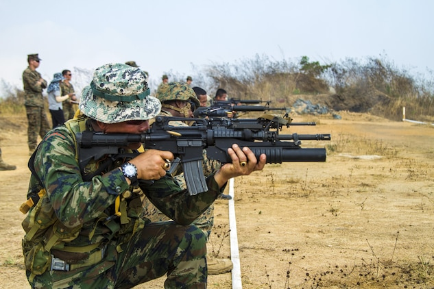 Royal Thai, U S  Marines partner to improve combat accuracy