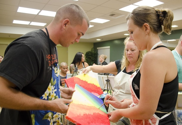 Couples build community, complementing canvases > Marine ...