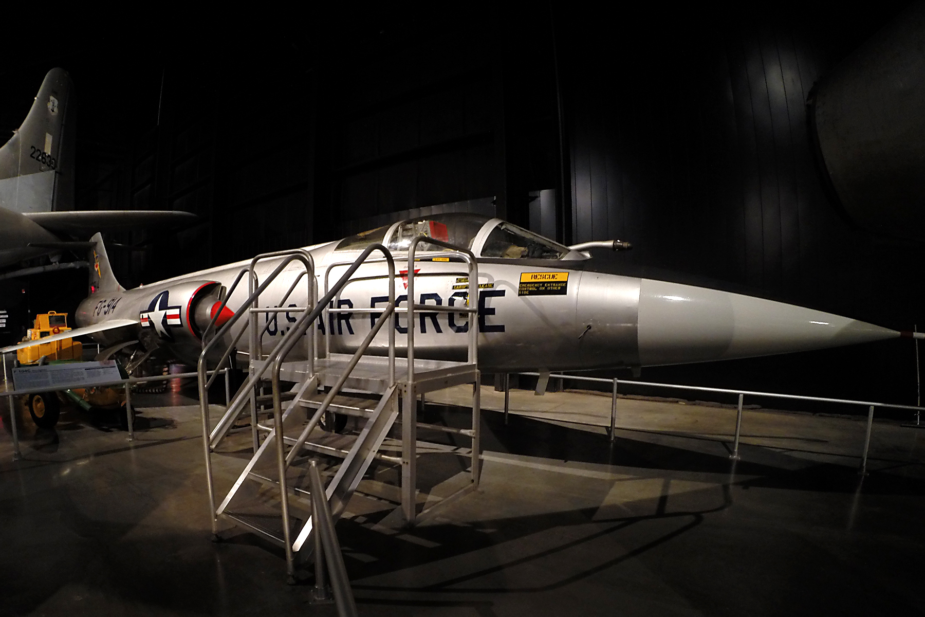 lockheed f 104c starfighter national museum of the us air force display. Black Bedroom Furniture Sets. Home Design Ideas