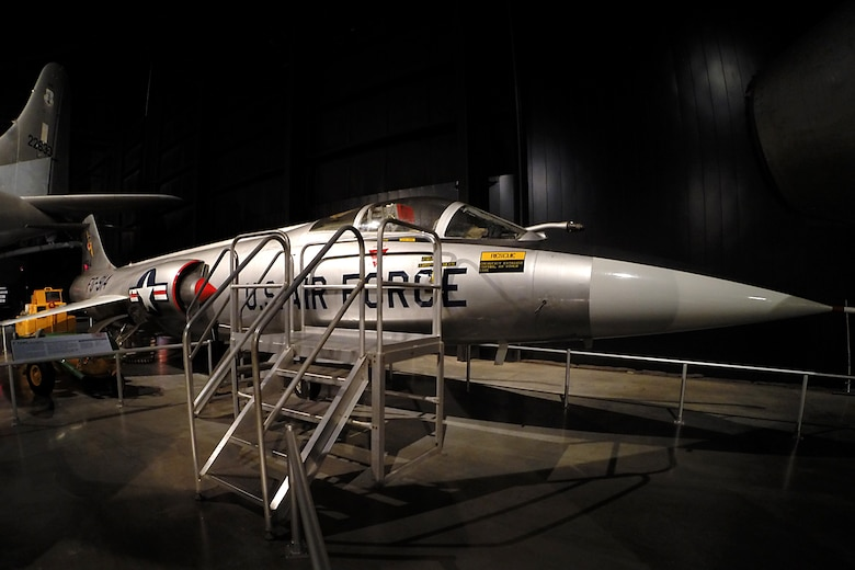 Lockheed F-104C Starfighter in the Cold War Gallery at the National Museum of the United States Air Force. (U.S. Air Force photo)