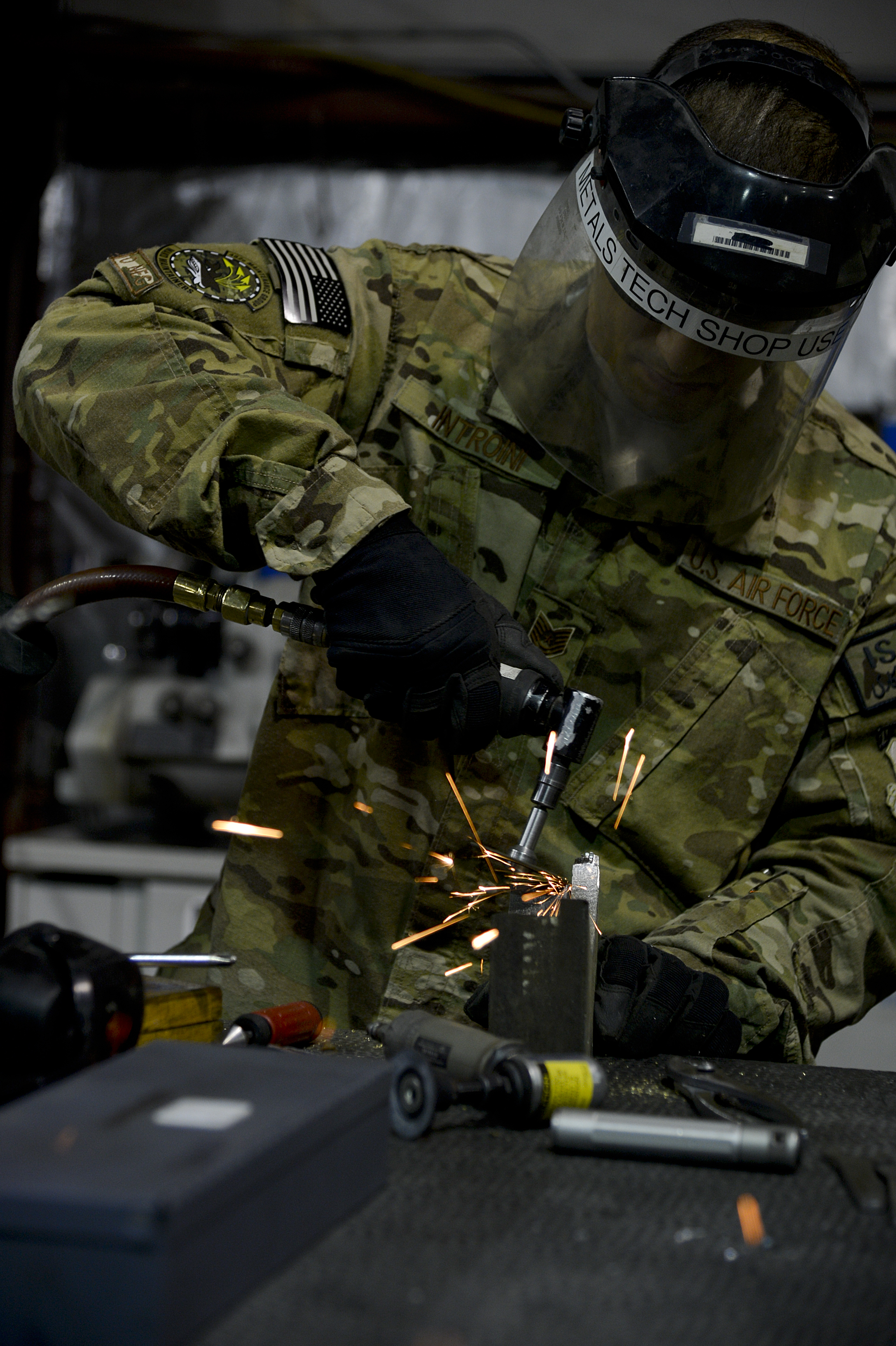 us air force tech sgt alex introini 455th expeditionary maintenance squadron aircraft machinist