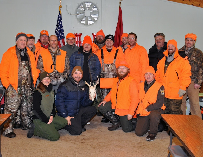 Volunteers and veterans with the Wounded Warrior Project participated in the second deer hunt at the Eau Galle Recreation Area, near Spring Valley, Wis., Dec. 14.