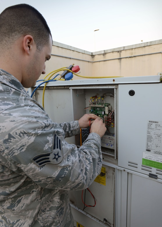 Mission Spotlight Hvac R Technicians Keep Airmen Cool Gt U