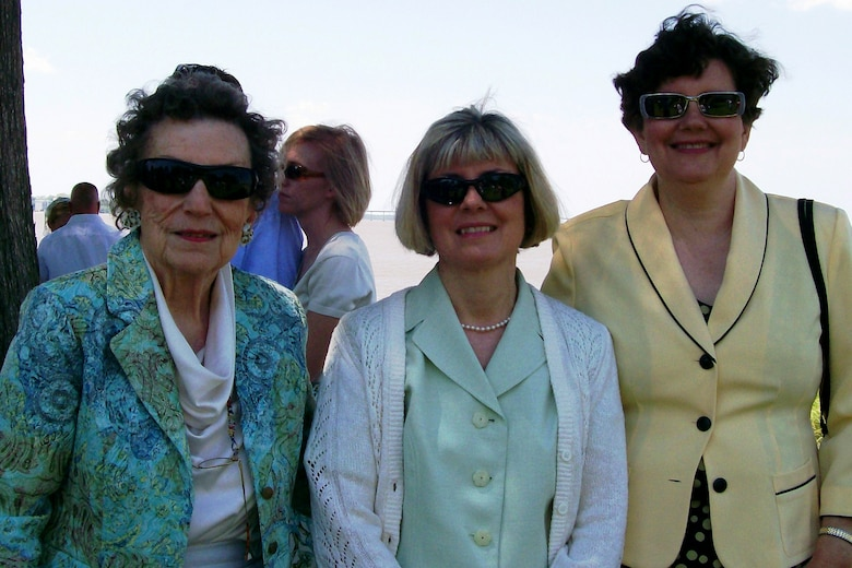 """(l-r) Mrs. Anne Ritchie Waring, age 89, shares a Kodak moment with her two daughters, Betty Grey Waring and Anne Frost Waring, during a recent family wedding. The Warings are known for their double names.""""All my family has double first names,"""" Betty Grey said. """"Most Southern parents back then would name their children after a relative, a grandparent or whatever. After recently talking to my mom, she said oftentimes families would end up with multiple Anne's, John's, George's, etc. By combining first and middle names, it was easier for families to distinguish each other."""""""