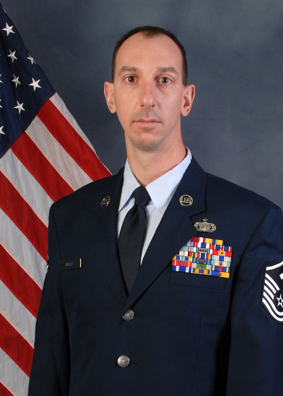 Master Sgt. Andrew Hoyle, 173rd Security Forces Squadron, was selected as the 2013 First Sgt. of the Year  for the 173rd Fighter Wing.  (U.S. Air National Guard photo by Tech. Sgt. Jefferson Thompson, released)