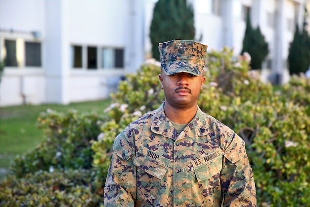 """Corporal Antoine Diop, a native of Toulouse, France, and a supply administration specialist with Supply Co., 1st Supply Bn., CLR-15, aboard Camp Pendleton, Calif., is looking forward to his second deployment and carrying on his family's legacy of service. """"It's tough to be away from your family,"""" said Diop. """"But, the brotherhood we share with our fellow Marines is kind of a family away from family. The difficulties that we endure only bring us closer together."""""""
